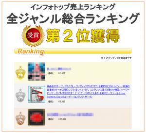 インフォトップ総合ランキング2位