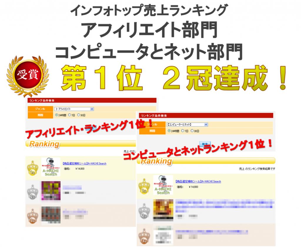 インフォトップ部門別ランキング2冠