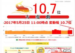 2017年5月25日Google大変動 継続中!namaz10.7位